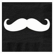 20 Serviettes Moustache