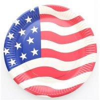 Contient : 1 x 10 Assiettes USA