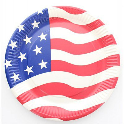 10 Assiettes USA