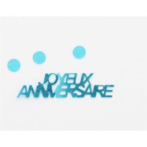 Confettis Joyeux Anniversaire - Bleu