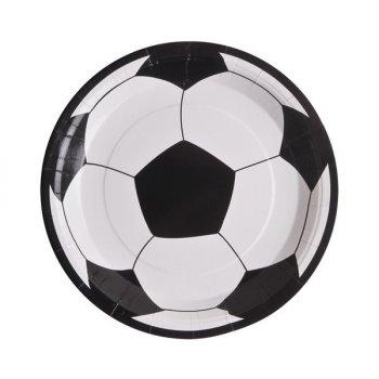 10 Assiettes Football Fan