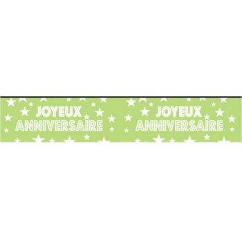 Bannière Joyeux Anniversaire Vert (2,40 m) - Papier