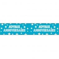 Bannière Joyeux Anniversaire Bleu Turquoise (2,40 m)
