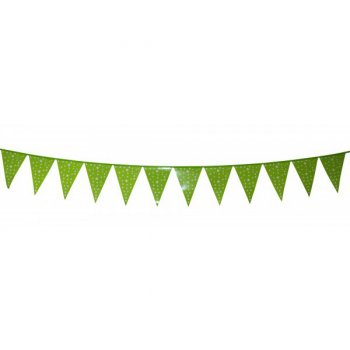Guirlande Fanions Etoiles Vert (3 m)