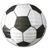 2 Lanternes Deco Ballon de Football (30 cm) - Papier