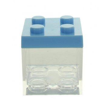 3 Boites Cubes Bleu à garnir  (5 cm) - Plastique