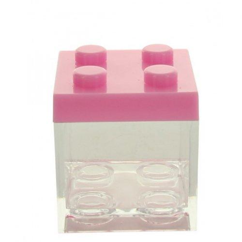 3 Boîtes Cubes Rose à garnir  (5 cm) - Plastique