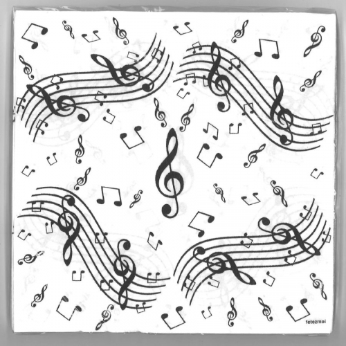 20 Serviettes Musique