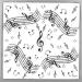 20 Serviettes Musique. n°1