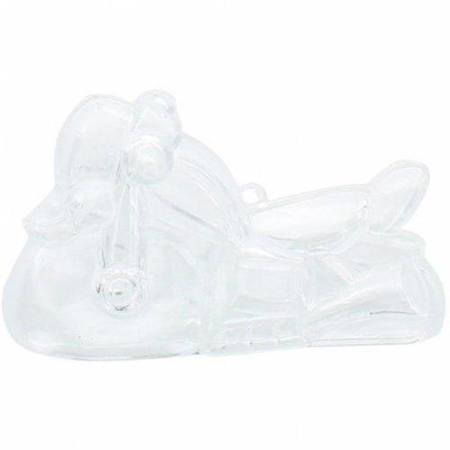 3 Boites Motos à garnir (7,5 cm) - Plastique Crystal