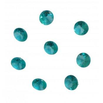 100 Confettis Diamants Bleu Givré (1 cm) - Plastique