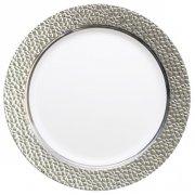 5 Assiettes Prestige Argent (25 cm) - Plastique