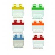 3 Boites Cubes à garnir (5 cm) - Plastique