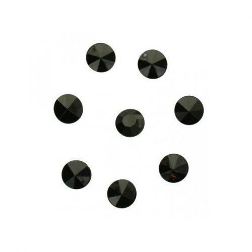 100 Confettis Diamants Noir (1 cm) - Plastique