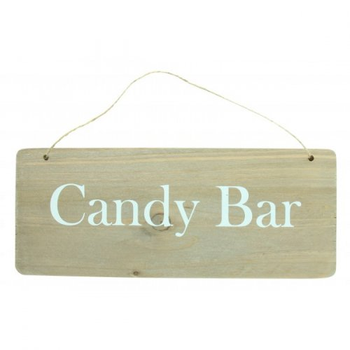 Pancarte Candy Bar (25 cm) - Bois