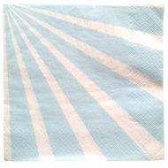20 Serviettes Kermess - Rayures Bleu