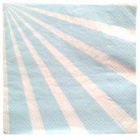 Contient : 1 x 20 Serviettes Kermess - Rayures Bleu