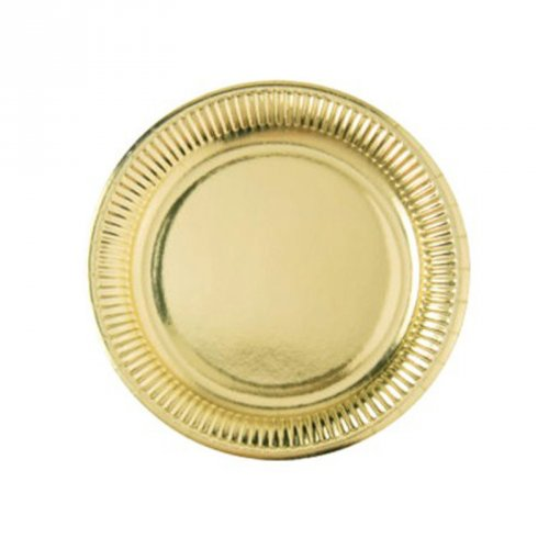 8 Assiettes Or Miroir