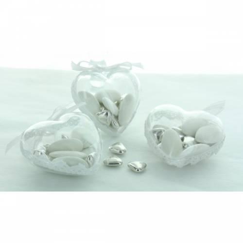 3 Boites Coeur (7.5 cm) - Plastique Crystal