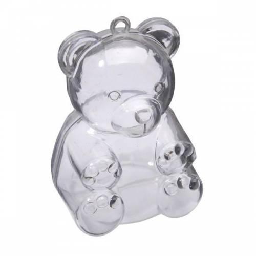 3 Oursons à Garnir (6 cm) - Plastique Cristal