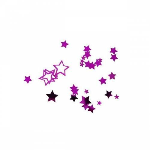 Confettis Etoiles Fushia