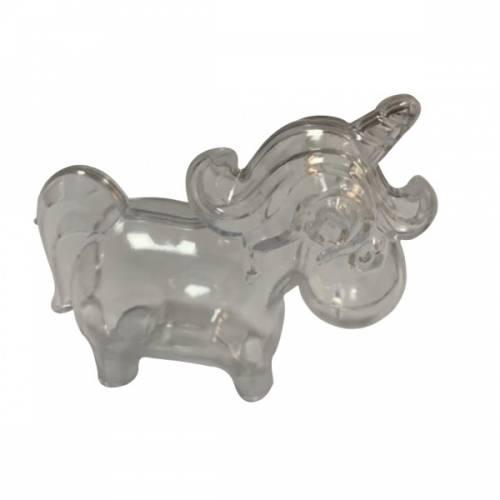 3 Boites Licorne (9,5 cm) - Plastique Crystal