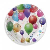Contient : 1 x 6 Assiettes Ballons