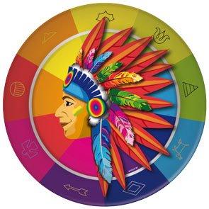 8 Assiettes Indien Rainbow