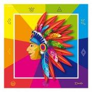 20 Serviettes Indien Rainbow