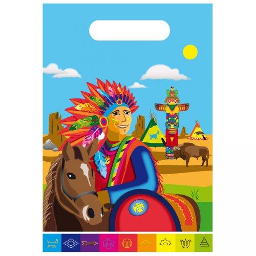 8 Pochettes à cadeaux Indien Rainbow