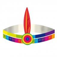 4 Bandeaux Indien Rainbow