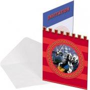 8 Invitations Chevalier d'Argent