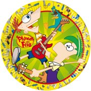 10 Assiettes Phineas & Ferb