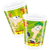Contient : 1 x 10 Gobelets Phineas & Ferb