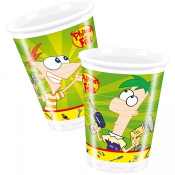10 Gobelets Phineas & Ferb
