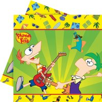 Contient : 1 x Nappe Phineas & Ferb
