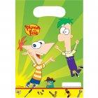 6 Pochettes cadeaux Phineas & Ferb