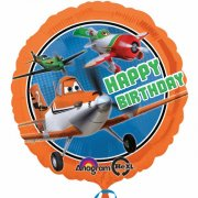 Ballon Hélium Planes Happy Birthday