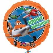 Ballon H�lium Planes Happy Birthday