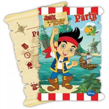 6 Invitations Jake Le Pirate 2