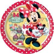 8 Assiettes Minnie Caf�