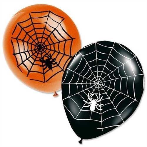 Lot de 8 ballons Halloween Araignée