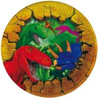 Contient : 1 x 6 Petites Assiettes Dinosaure