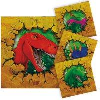 Contient : 1 x 16 Serviettes Dinosaure