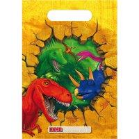Contient : 1 x 6 Pochettes à cadeaux Dinosaure