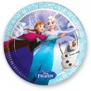 8 Assiettes La Reine des Neiges sur glace