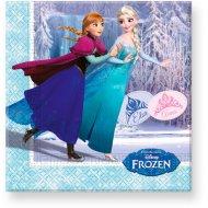 20 Serviettes La Reine des Neiges sur glace
