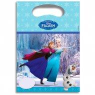 6 Pochettes Cadeaux La Reine des Neiges sur glace