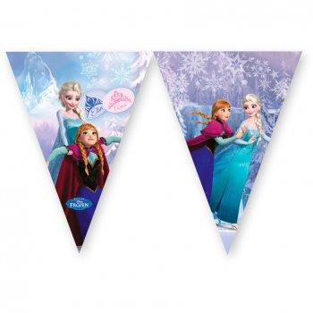 Guirlande fanions La Reine des Neiges sur glace