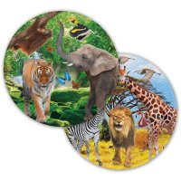 Contient : 1 x 8 Assiettes Safari Party